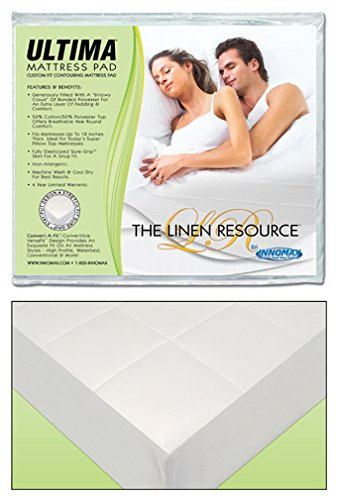 Amazon Com Waterbed Mattress Pad Fully Fitted Heavy Quilted