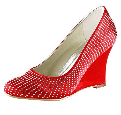 Minitoo punainen Kävelyttää Mz541 Pumput Hääjuhlissa Korkokenkiä Kiila Satiini Naisten Kengät Style2 Ilta ORrCqw7On