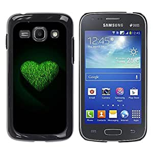 Exotic-Star ( Green Heart ) Fundas Cover Cubre Hard Case Cover para Samsung Galaxy Ace 3 III / GT-S7270 / GT-S7275 / GT-S7272