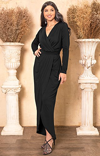 302a6dd7f2a ... V-Neck Sexy Wrap Empire Waist Formal Winter Fall Cocktail Wedding  Evening Gown Gowns Maxi Dress Dresses