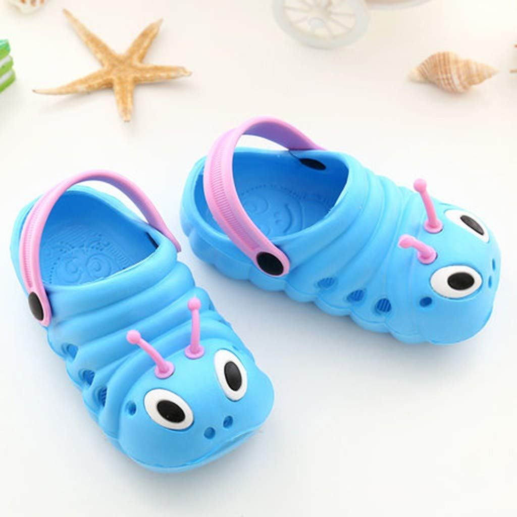 HHei/_K Children Summer Cute Baby Caterpillar Shoes Anti-Skid Strappy Slippers Toddler Boys Girls Cartoon Beach Sandals