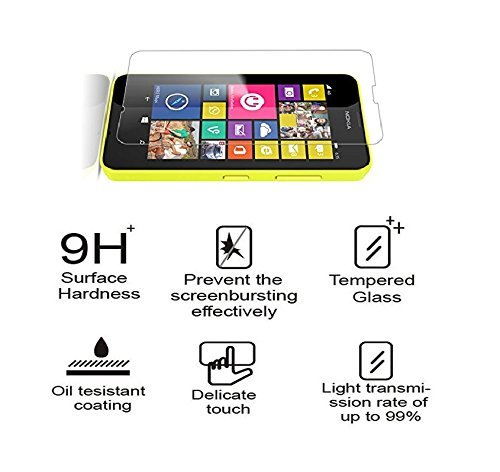 MXtechnic Glass Screen Protector for Microsoft Lumia 640 XL ShatterProof 9H Anti-Scratch Crystal Shield with Retail package