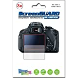 3x Canon Rebel T5i T6i T6s (EOS 700D 750D 760D) Kiss X7i DSLR camera Premium Clear LCD Screen Protector Cover Guard Shield Protective Film Kit (3 pieces by GUARMOR)