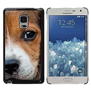 Be Good Phone Accessory // Dura Cáscara cubierta Protectora Caso Carcasa Funda de Protección para Samsung Galaxy Mega 5.8 9150 9152 // Beagle Puppy Nose Eyes Dog Baby