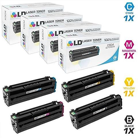 LD Compatible Replacements for Samsung CLT-504 Set of 4 Laser Toner Cartridges: 1 CLT-K504S, 1 CLT-C504S, 1 CLT-M504S, & 1 CLT-Y504S for the CLP-415NW, CLX-4195FN, CLX-4195FW, SL-C1810W, (Samsung Laser Printer C1810w)