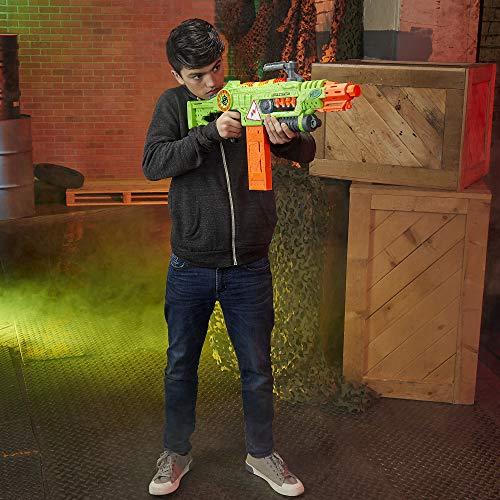 51TOjberwsL - NERF Revoltinator Zombie Strike Toy Blaster with Motorized Lights Sounds & 18 Official Darts for Kids, Teens, & Adults
