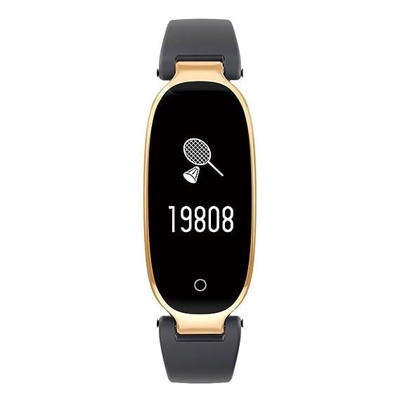 Hombres y mujeres Smartwatches,Reloj deportivo 50m resistente al agua Digital Contador de pasos Pulsómetro Multifunción Pulsera electrónica led Señoras-B: ...