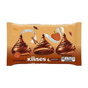 HERSHEY'S KISSES Milk Chocolate Pumpkin Spice (10-Ounce Bag, Pack of 4)