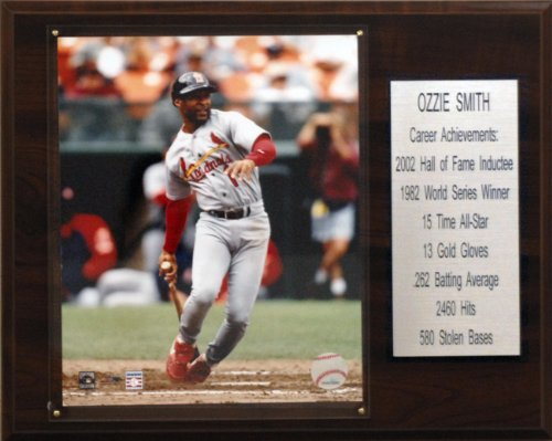 Ozzie Smith Career (MLB Ozzie Smith St. Louis Cardinals Career Stat Plaque)