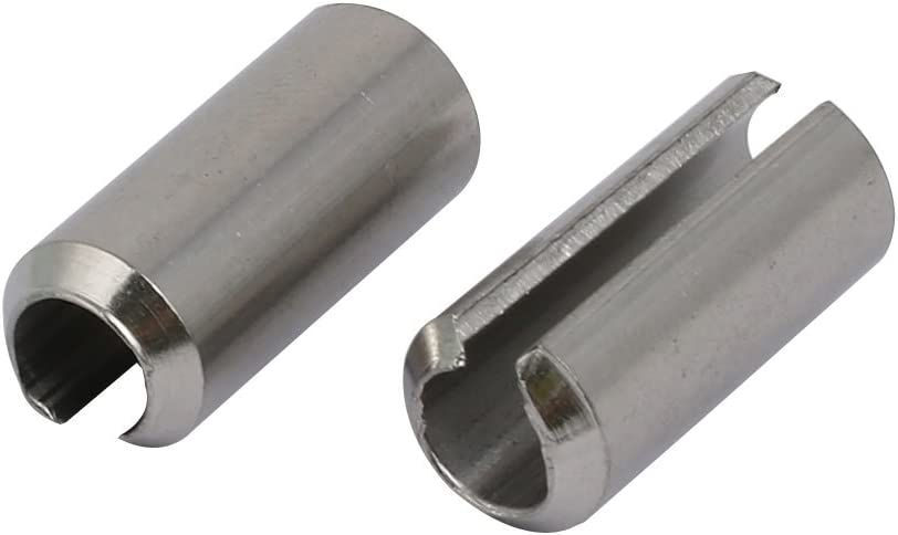 sourcing map Pasador pivote de rodillo M8x20mm de acero inoxidable 304 de tensi/ón de pasador de resorte 6 piezas