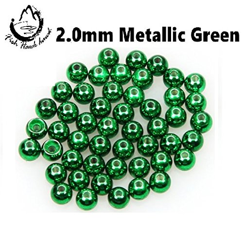 Tungsten Beads for Fly Tying - 50Pack (Metallic Green, ()