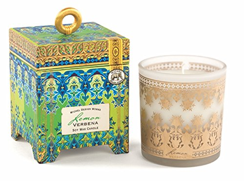 Michel Design Works Gift Boxed Soy Wax Candle, 6.5-Ounce, Lemon Verbena (Michel Wax Candle)