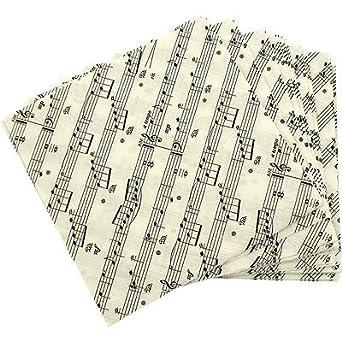 Sheet Music Beverage Napkins 20 & Pack (5