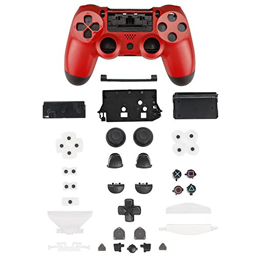 XFUNY® Controller Plastic Front Back Housing Case Shell Cover Case Part Skin Cover Controller Grip Handle Replacement for Sony PlayStation 4 PS4 - ()