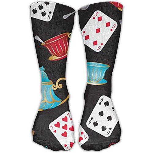 Cool Poker Cards Entertainment Crew Socks Athletic Running Socks For - Dance Date Day Ideas