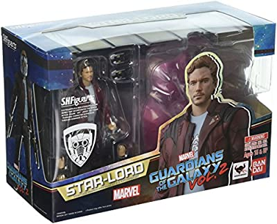 """Tamashii Nations Bandai S.H. Figuarts Star-Lord & Explosion Set Guardians of The Galaxy Vol. 2"""" Action Figure"""