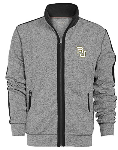 Camp David NCAA Baylor Bears Men's Premium Full Zip Track Jacket, X-Large, Gunpowder/Black