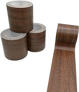 Creative ingenuity 1 Roll 15 Feet Simulation Wood Grain High-Adhesive Repair Tape for Desk/Chair/Furniture/Floor Beautification Decoration Tape (Dark Brown Oak)
