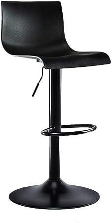 Imagen deWYNZYJBD - Taburete alto para barra (2 unidades, 60 a 80 cm), color negro Two