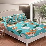 Japanese Sushi Bed Sheet Set for Children Kids Boys