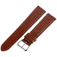 Hadley-Roma Men's MSM843RR-200 20mm Tan Genuine Leather Watch Strap