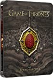 Game of Thrones: Season Seven Dragonstone Limited Edition Steelbook (Blu-ray+Digital HD) with Red Dragonstone Sigil