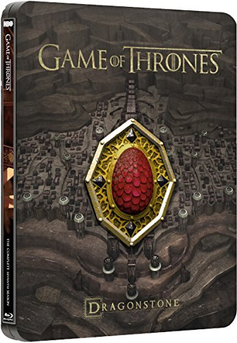 Game of Thrones: Season Seven Dragonstone Limited Edition Steelbook (Blu-ray+Digital HD) with Red Dragonstone Sigil Magnet and Exclusive 45-minute Conquest & Rebellion by