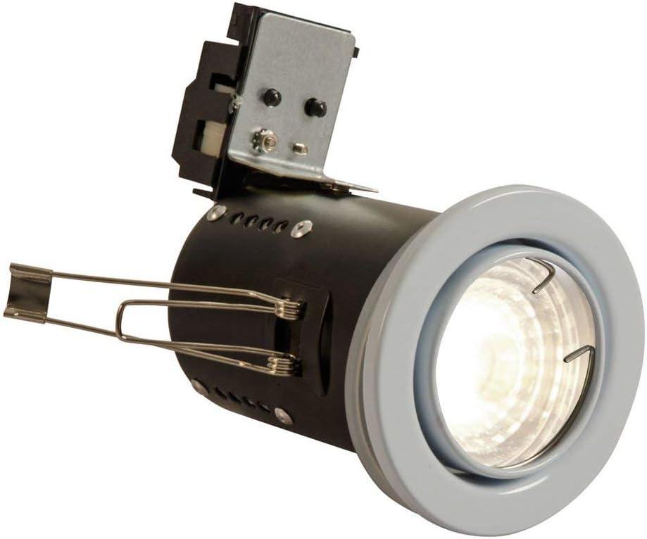 BlueXP 20 Pi/èces GU10 Cadre De Montage Pince De Fermeture /À Ressort Clips 80mm Diam/ètre Ressort de Rappel Anneaux Fermoir Clips pour Gu10 MR16 LED Projecteurs de Plafond Downlights Ampoule