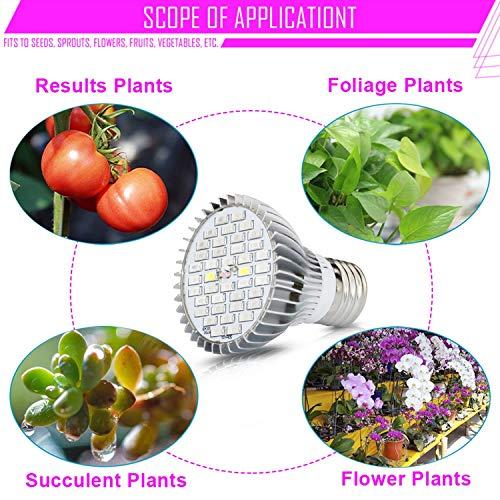Amazon.com : Led Bulbs Led Lamp Aluminum Full Spectrum Aquarium Led Lamps for Plants E27 220V 110V 30W 50W 80W Led Bulb Grow Light, 30W 40Leds : Garden & ...