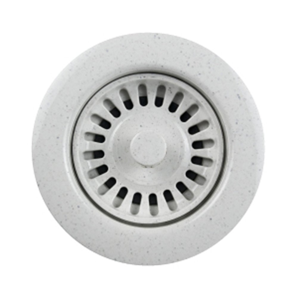 Houzer 190-9266 Speckled Granite Sink Strainer for 3.5-Inch Drain Openings, White