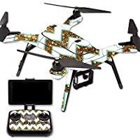 MightySkins Protective Vinyl Skin Decal for 3DR Solo Drone Quadcopter wrap cover sticker skins Glitter Chevron