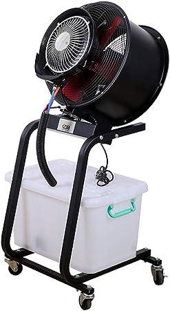 ZYFA Ventilador Industrial de pie, con Nebulizador de Agua, 60L ...