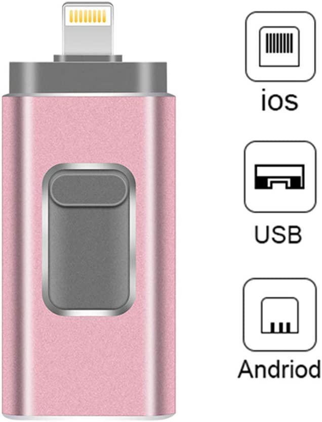 iPad,Android PC USB Flash Drives Compatible iPhone//iOS 3-in-1 Lightning OTG Jump Drive,USB 3.0 Thumb Drive External USB Memory Storage Flash Memory Stick Compatible Apple