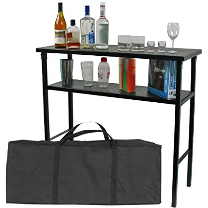 Merveilleux Trademark Global Deluxe Metal Portable Bar Table W/Carrying Case