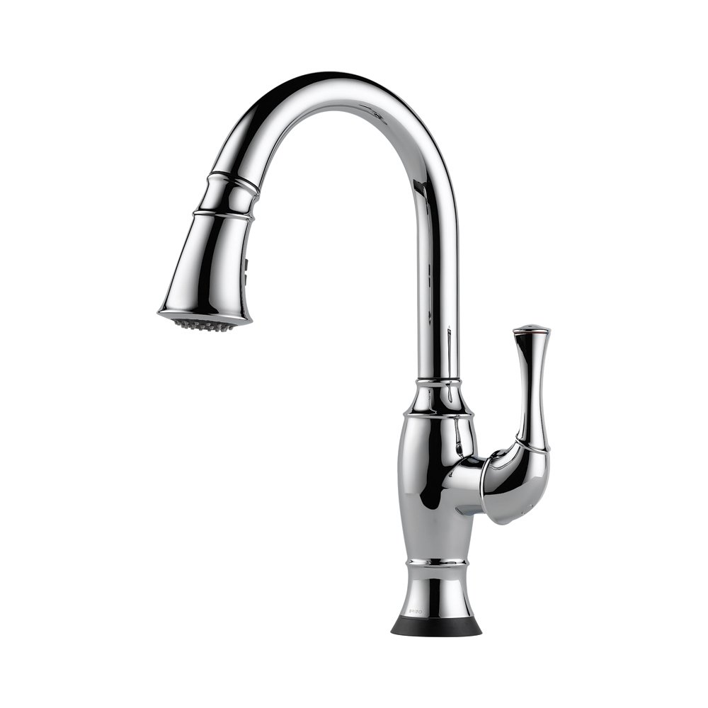 Brizo 64003LF-PC Talo Pullout Spray High-Arc Kitchen Faucet with ...