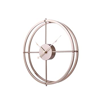 Buy Ruiyif 16 Inch Silent Wall Clock Non Ticking Metal Vintage Unique Wall Clocks Large Decorative For Kitchen Living Room Office Gold 16 Inch Online At Low Prices In India Amazon In
