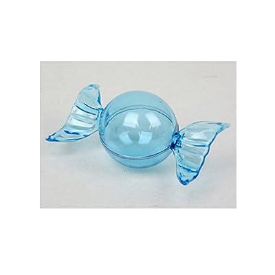 10 contenants à dragées bonbon fête (bleu)
