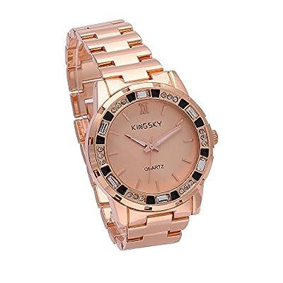 Womens Rose Gold Watch Fashion Ladies Quartz Bracelet Clock