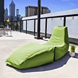 Jaxx Outdoor Prado Bean Bag Lounge Chair, Solid, Lime Green