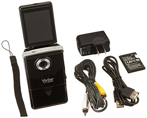 Vivitar DVR426-BLK/KIT-AMX LIC JPEG Video Recording Flip Digital Camera (Black)