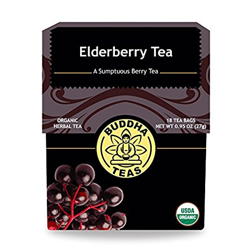 Organic Elderberry Tea Caffeine Free Bleach Free
