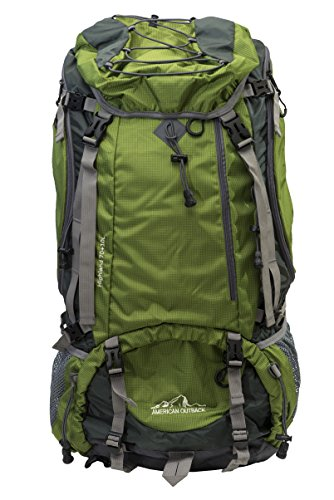 hland Internal Frame Hiking Backpack, Green, 80 L (Love Trek Water Bottle)