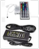 YHG 44key Wireless Ir Remote Controller + 12v 5a Power Supply for 3528 5050 RGB LED Strip Light Lights