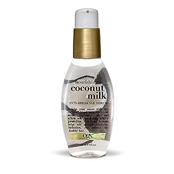 Amazon Com Ogx Nourishing Coconut Milk Anti Breakage Serum 4