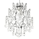 Modern Silver Chrome Chandelier Style Ceiling Pendant Light Shade with Clear K5 Genuine Lead Crystal Drople