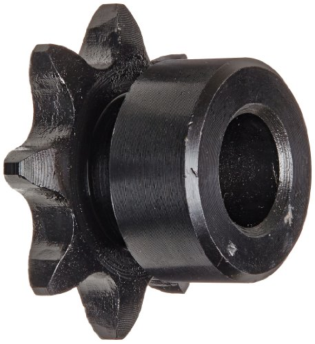 (Browning 41B8 Minimum Bore Roller Chain Sprocket, Single Strand, Steel, 1/2