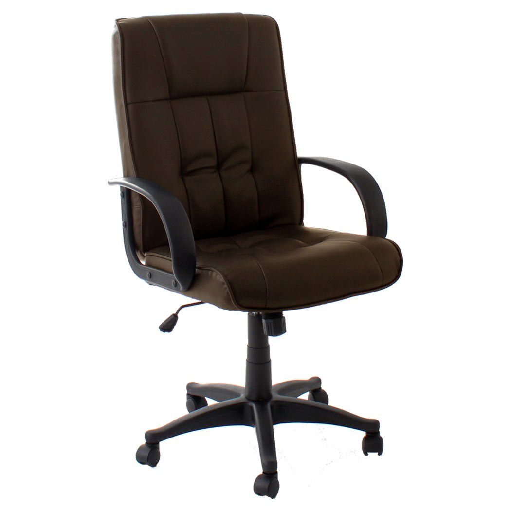 Fabulous Seattle Brown High Back Executive Office Chair Leather Swivel Recline Rocker Computer Desk Furniture Home Interior And Landscaping Dextoversignezvosmurscom