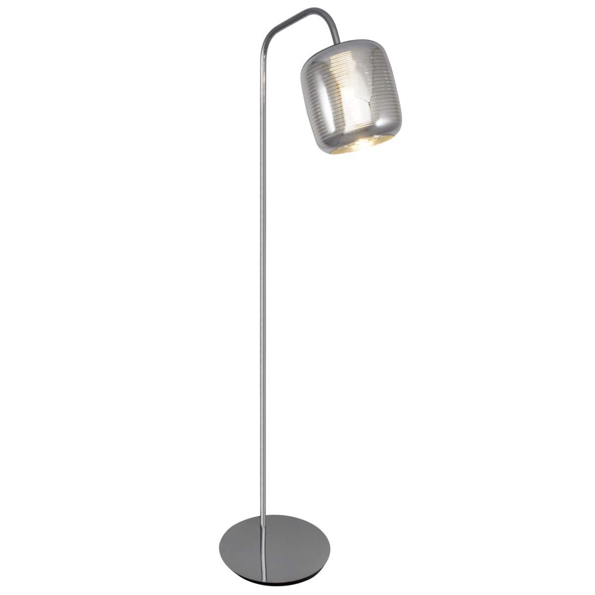 Stand Steh Leuchte Boden Lampe Licht FEELING chrom silber gold gestreift Glas