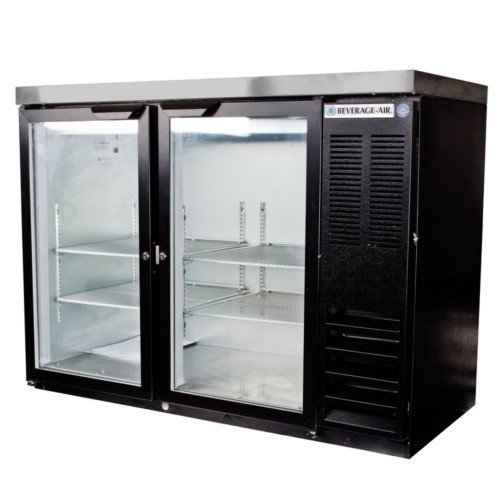 Beverage Air BB48GYF-1-B Two-Section Refrigerated Food Rated Back Bar Storage Cabinet 48