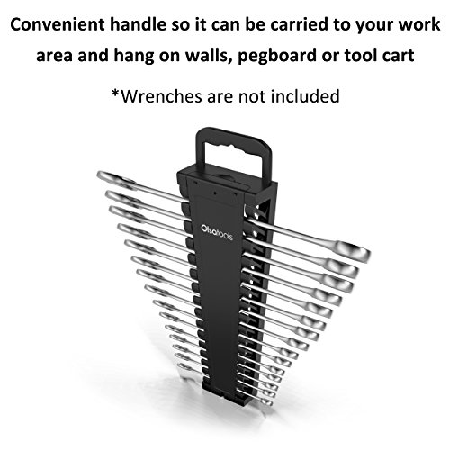 Olsa Tools Portable Wrench Organizer   15-Slot Wrench Holder for Organizing Wrenches   Black by Olsa Tools (Image #2)